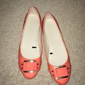 Banana Republic! Orange slip on dress flats!